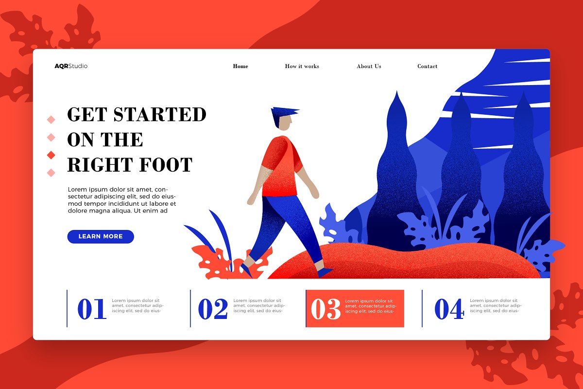 The RightFoot -Banner & Landing Page