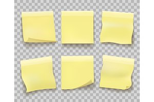Yellow memo paper on transparent