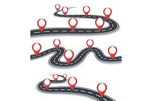 Road map information symbols