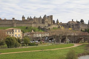 Medieval fortress in Carcassonne