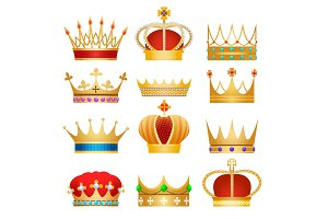 Gold king crowns