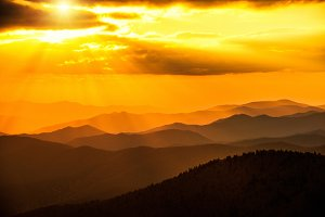 Sunset in the Great Smoky Mountains