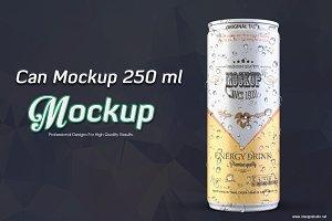 Can mockup 250 ml