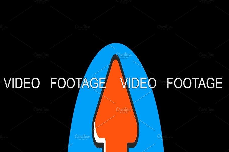 Upload Premium flat icon animated