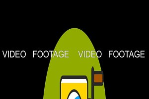 Video Camera flat icon animated with