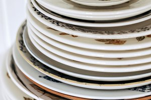 stack of ceramic plates