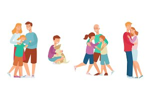 Vector flat family characters