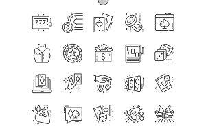 Gambling Line Icons