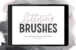 12 iPad Brushes (For Procreate)