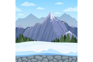 Mountain seamless background