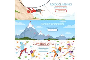 Mountain climbing pictures. Rope