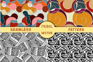 4 vector seamless pattern