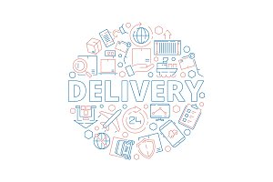 Logistic supplies. Delivery service