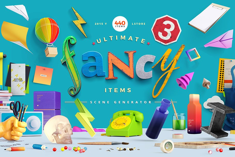Fancy Items Scene Generator ~ Scene Creator Mockups ~ Creative Market
