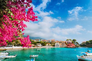 Beautiful Assos village scenery