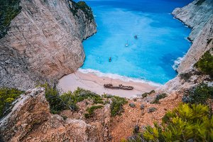 Navagio Shipwreck Beach on Zakynthos