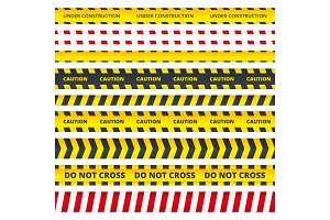 Caution stripe. Danger or attention