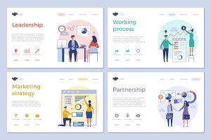 Business landing pages. Web design