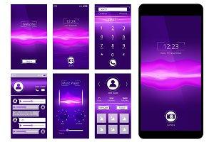 Mobile ui. Design template interface