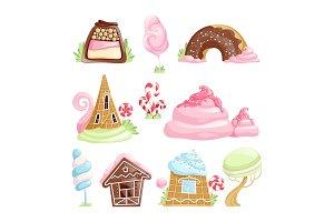 Fantasy desserts. Chocolate caramel