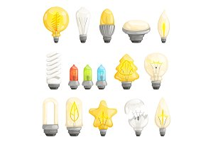 Light bulbs. Modern lamp save energy