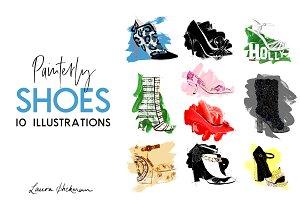 Painterly Designer Shoe Illustration