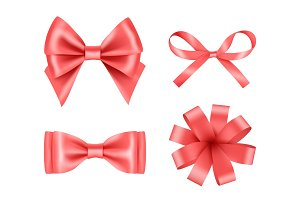 Bow realistic. Holiday decoration
