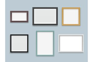 Picture frames realistic. Modern
