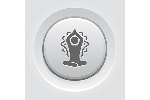 Yoga Meditation and Zen Icon. Flat