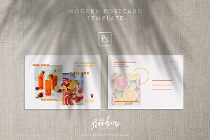 Modern Postcard Flyer Template