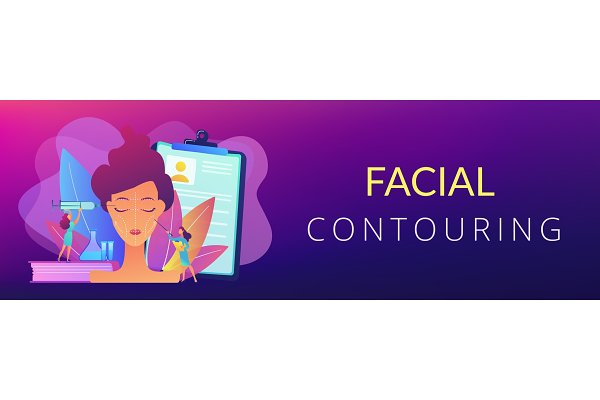 Facial contouring concept banner