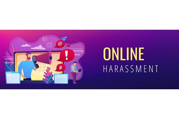 Internet shaming concept banner