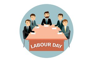 Labour Day vector poster with