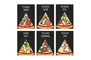 Pizza cards template. Holiday pizza