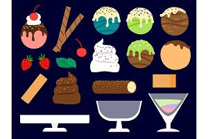 Dessert maker vector illustration