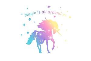 Magic unicorn color with stars