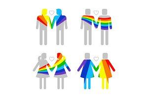 LGBT gay and lesbians, homosexuals