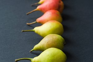 Colorful pears