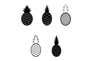 Set of pineapples