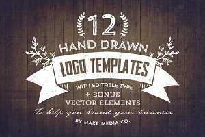 Hand Drawn Logos + Elements Vol. 1