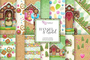 Hansel and Gretel Digital Paper