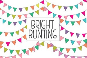 Colorful Bunting Clip Art