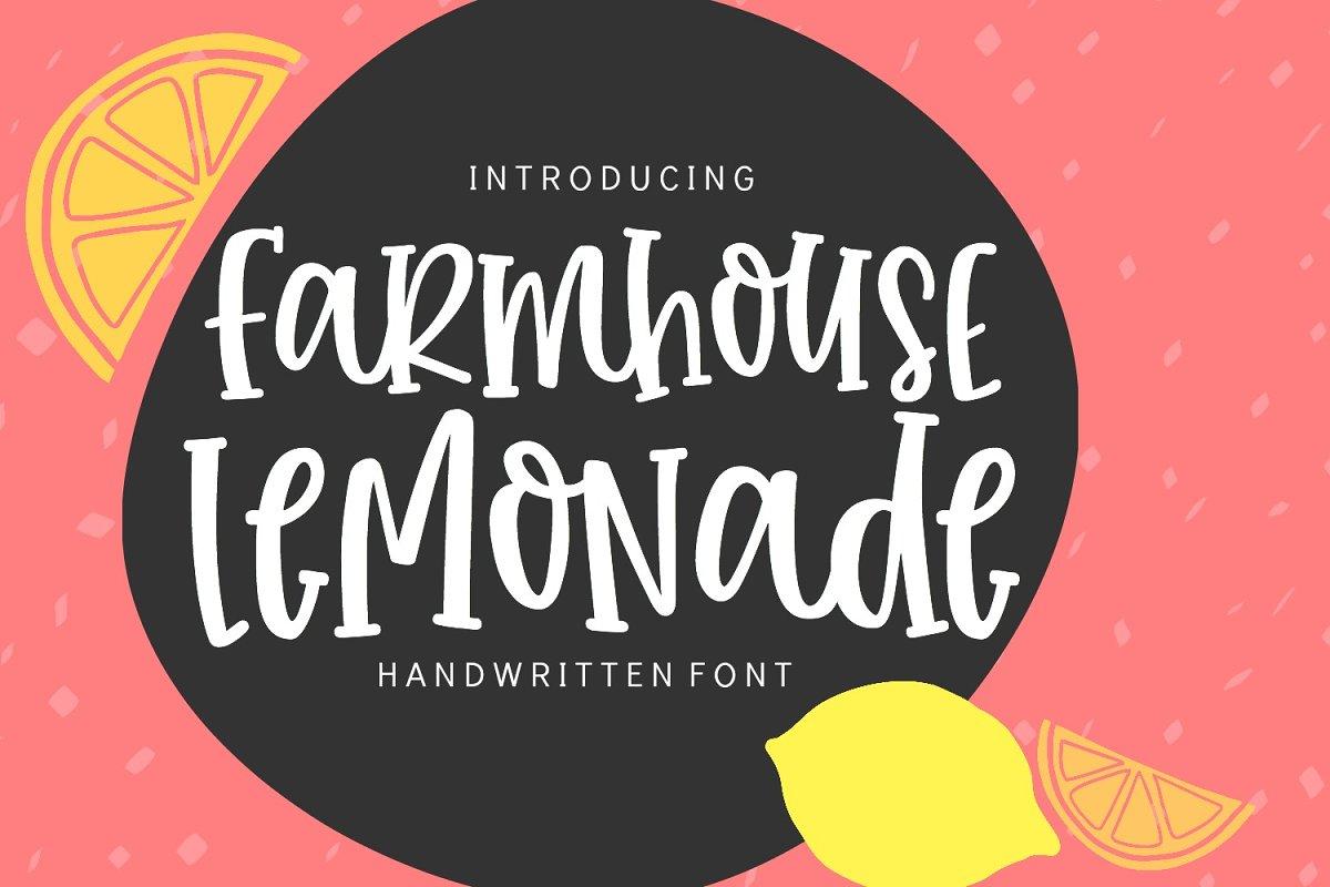 Farmhouse Lemonade Handwritten Font in Handwriting Fonts