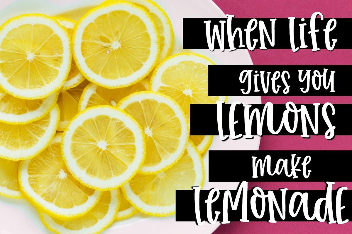 Farmhouse Lemonade Handwritten Font in Handwriting Fonts - product preview 4