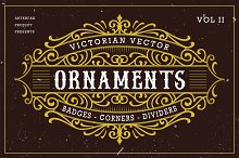 Victorian Vector Ornaments Vol II by  in Objects