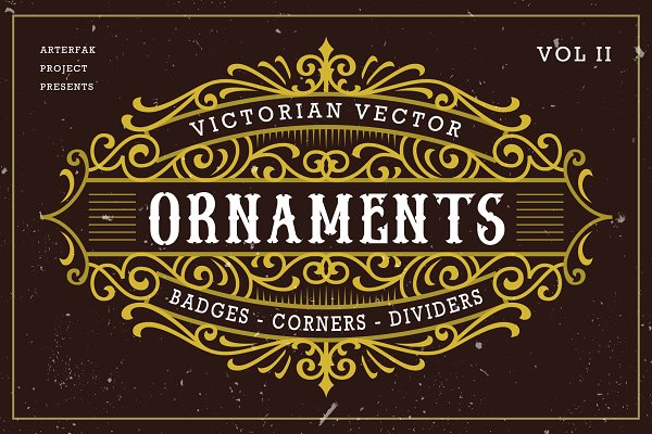 Graphic Objects: Arterfak Project - Victorian Vector Ornaments Vol II