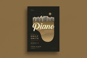 Piano Concert Flyer