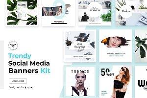 Trendy Social Media Banners Pack III