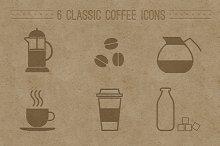 6 Classic Coffee Icons