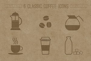 6 Classic Coffee Icons